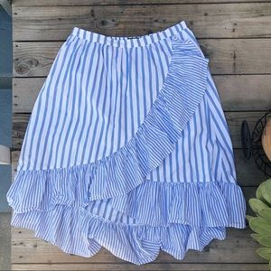 Who What Wear striped skirt